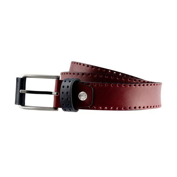 cinturon de cuero para mujer hombre burdeo moda