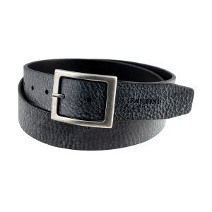 cinturon de cuero para mujer hombre negro