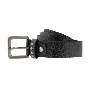 cinturon de cuero trenzado trenza negra hebilla