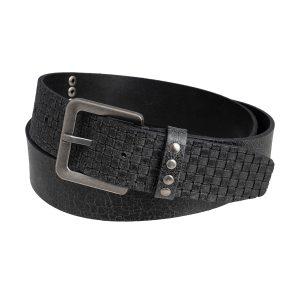 cinturon de cuero trenzado trenza negra