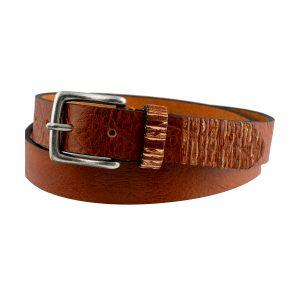 cinturon de cuero unisex natural