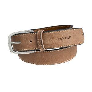 cinturón de cuero unisex natural