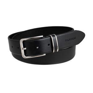 cinturon de piel negro unisex