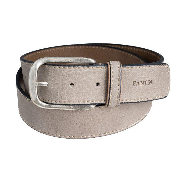 cinturon de piel unisex gris