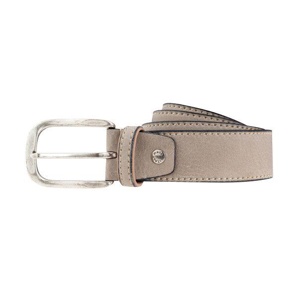 cinturón de piel unisex gris moda