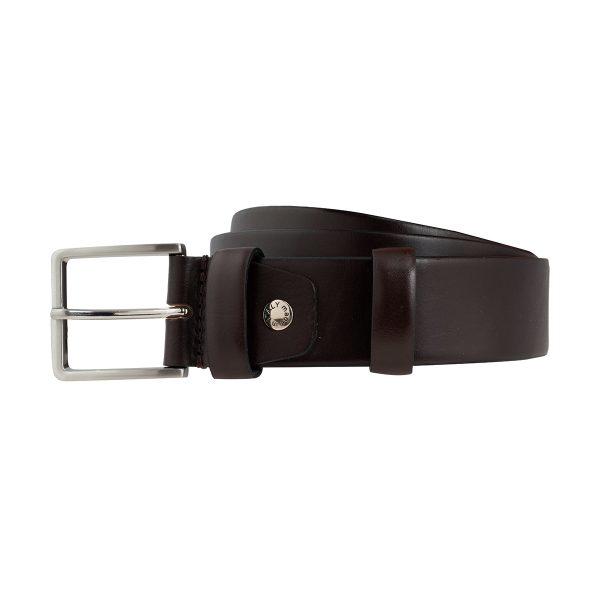 cinturon en cuero hombre marron complemento moda