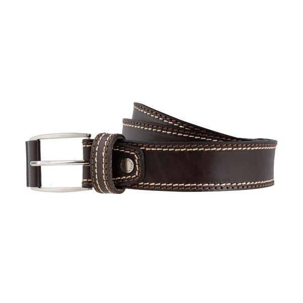 cinturon en cuero hombre marron oscuro