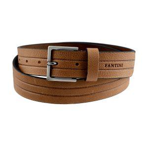 cinturon en cuero natural