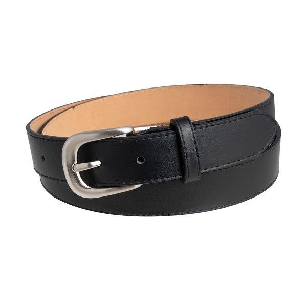 cinturon negro fino cuero fante