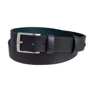cinturon para hombre en cuero azul marino