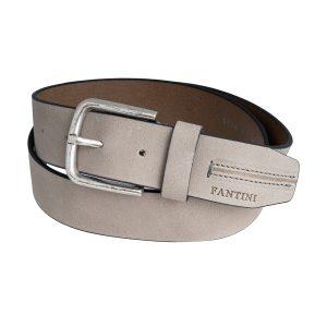 cinturon unisex cuero gris