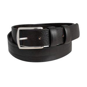cinturones en piel hombre negro