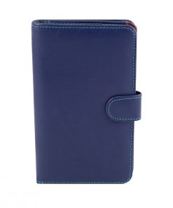 billetera de cuero mujer azul marino fantini pelletteria