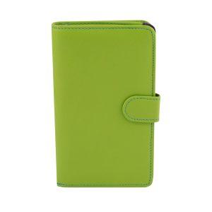 billetera de cuero mujer verde fantini pelletteria
