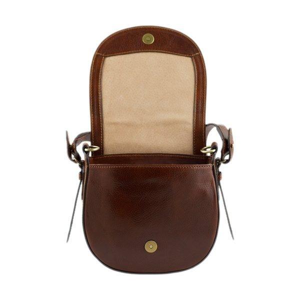 bolso de mano bandolera mujer piel marrón bolso de cuero