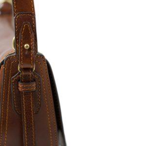 bolso de mano bandolera mujer piel marrón correa bolso piel