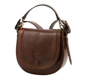 bolso de mano bandolera mujer piel marrón fantini pelletteria