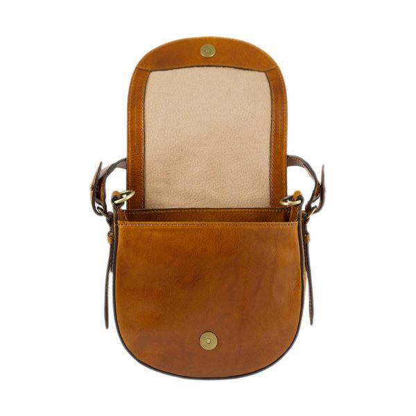 bolso de mano bandolera mujer piel miel bolso de cuero