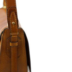 bolso de mano bandolera mujer piel miel correa piel bolso