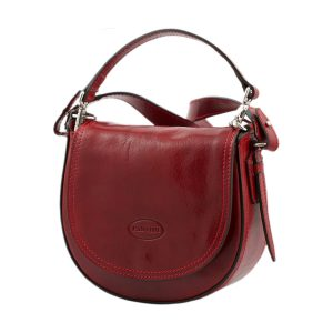 bolso de mano bandolera mujer piel rojo