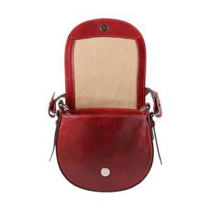 bolso de mano bandolera mujer piel rojo bolso en cuero