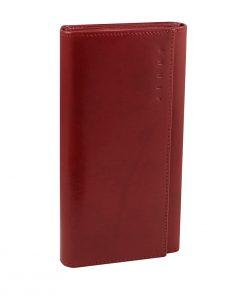 carteras mujer piel italiana monedero rojo cuero