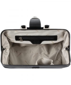 maletin doctor en piel negro interior maletin