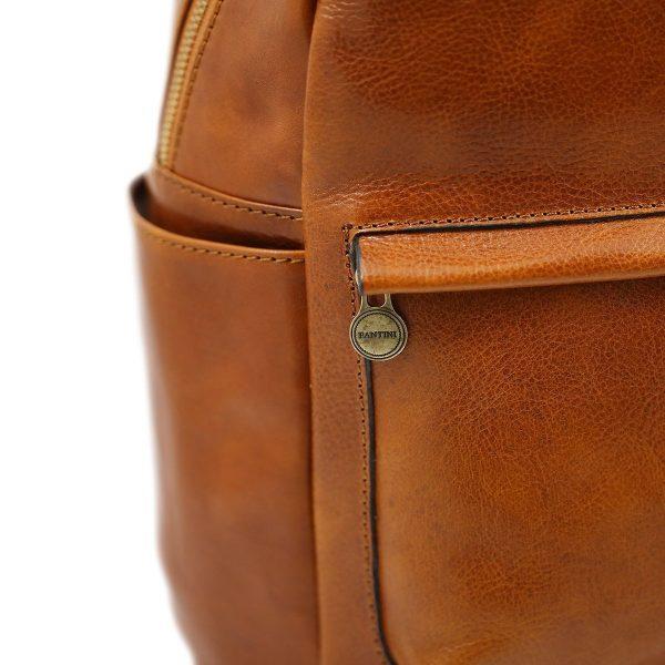 mochila de ciudad vintage piel cremallera