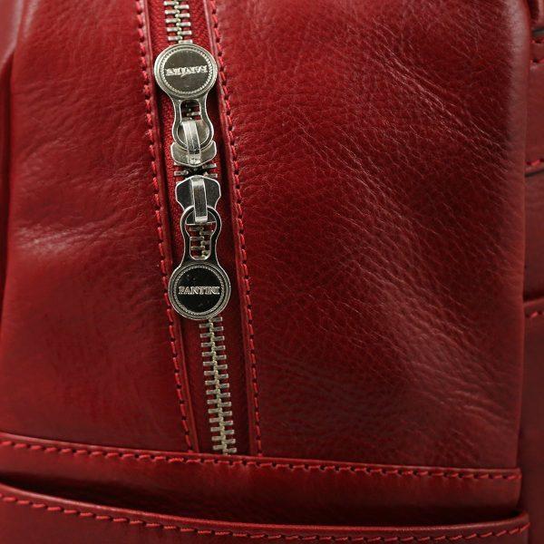 mochila de ciudad vintage piel mochila piel italiana cremallera