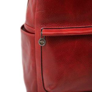 mochila de ciudad vintage piel diseño italiano