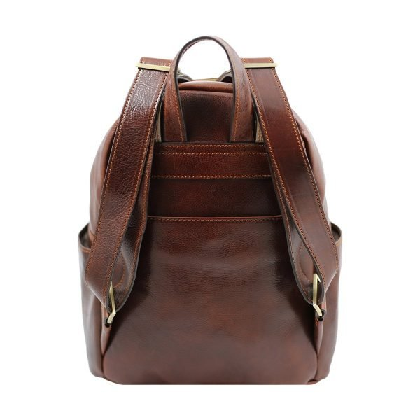 mochila de ciudad vintage piel hecho en italia cuero