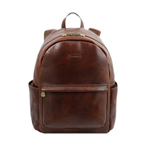 mochila de ciudad vintage piel marrón