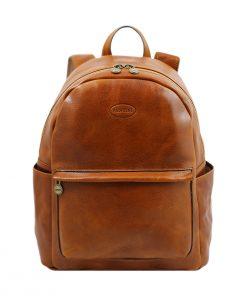 mochila de ciudad vintage piel miel