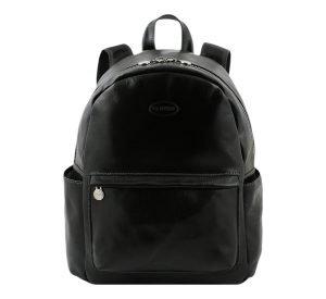 mochila de ciudad vintage piel negro