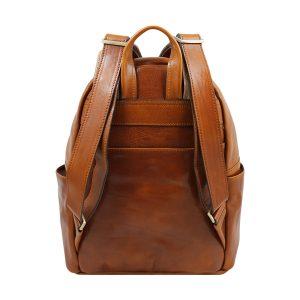mochila de ciudad vintage piel piel verdadera