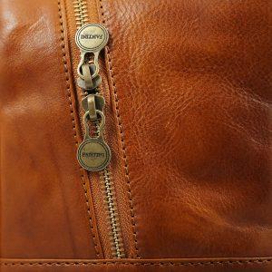 mochila de ciudad vintage piel piel verdadera cuer