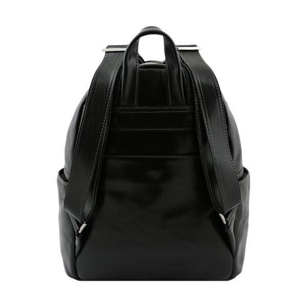 mochila de ciudad vintage piel piel verdadera negro