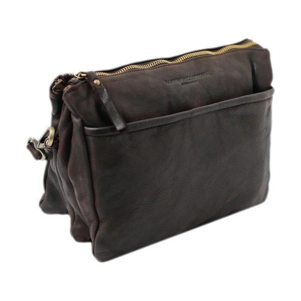 bolso cuero lavado vintage mujer marrón fantini