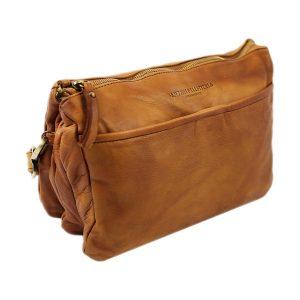 bolso cuero lavado vintage mujer natural fantini