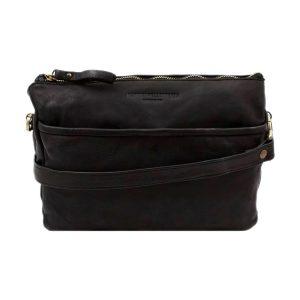 bolso cuero lavado vintage mujer negro