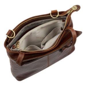 bolso mochila en cuero italiano marrón made in italy