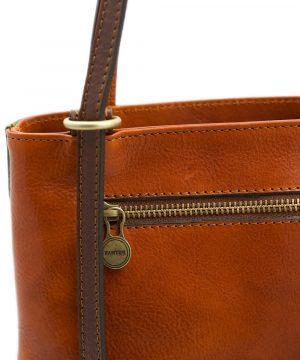bolso mochila en cuero italiano multicolor cremallera