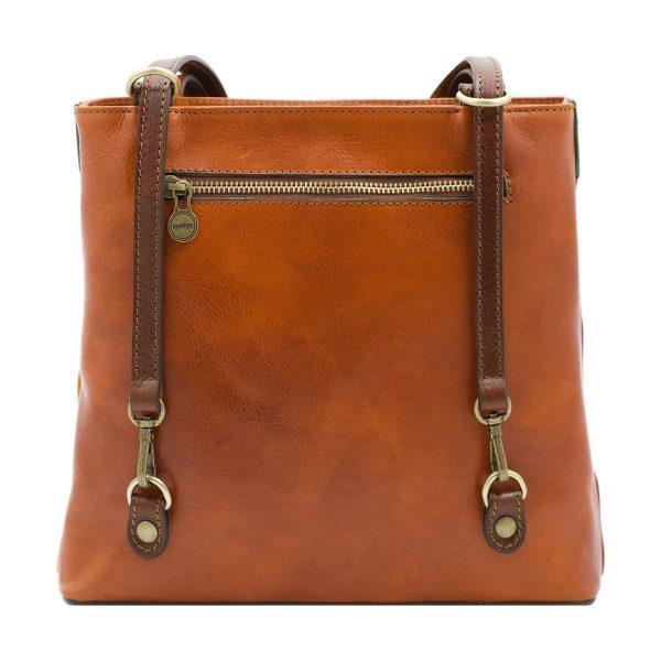 bolso mochila en cuero italiano multicolor fantini cuero italiano