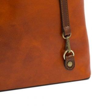 bolso mochila en cuero italiano multicolor fantini pelletteria