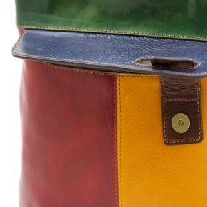 bolso mochila en cuero italiano multicolor made in italy