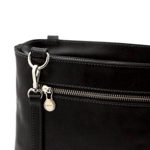 bolso mochila en cuero italiano negro moda italiana