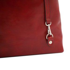 bolso mochila en cuero italiano rojo fantini pelletteria