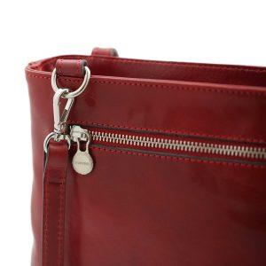bolso mochila en cuero italiano rojo made in italy