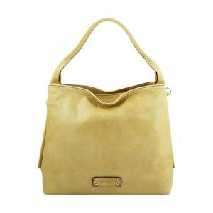 bolso mujer piel genuina amarillo