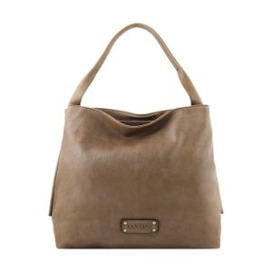 bolso mujer piel genuina gris
